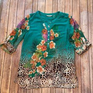 Soft Surroundings sheer blouse size Medium